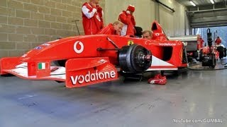 Ferrari Formula 1 - Engine warming up! LOUD SOUNDS!!