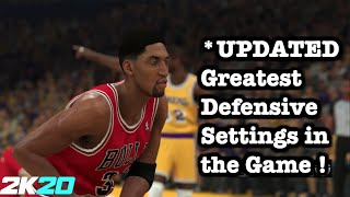 UPDATED 2K20 Defense Tutorial Best Defensive Settings in the Game. How to Defend On Ball 2K20