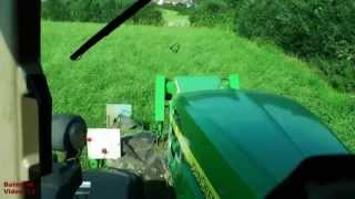 Mowing for Silage with John Deere 7930 and Triples, plus Cab Ride.