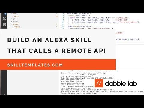Building an Alexa skill that uses data from an external API