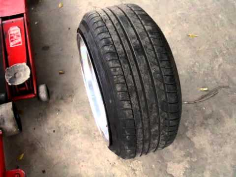 "Michelin Pilot Sport >> Stretched Tires On BBS RS 10.5"" R17 - YouTube"