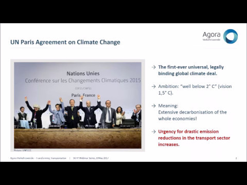 SUTP-Webinar - National decarbonisation strategies in the transport sector: the example of Germany