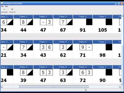 Bowling Score Calculator  Youtube