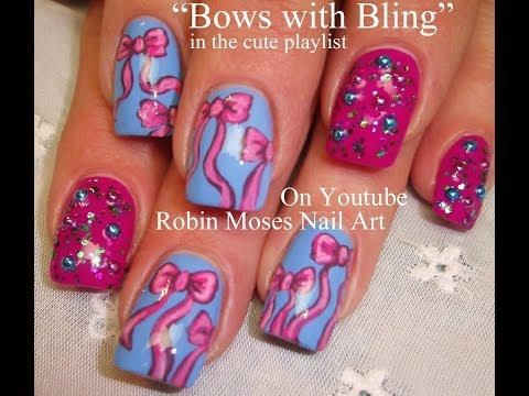 4 Bow Nail Art Tutorials