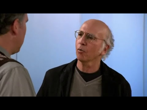 Larry David breaks glasses accidentally.