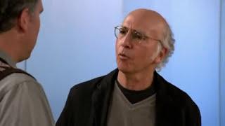 Larry David breaks glasses accidentally.