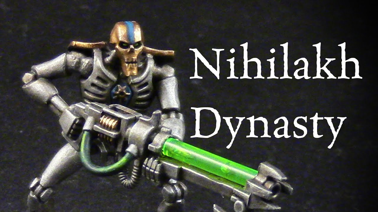 How to paint Nihilakh Dynasty Necron Warriors - YouTube лорд