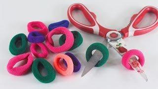 রাবার ব্যান্ড দিয়ে নিউ আইডিয়া | DIY-Art-and-Craft-Ideas-With-Hair-Rubber-Bands