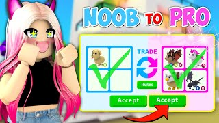 NOOB To PRO Trading Challenge In Adopt Me (Roblox)