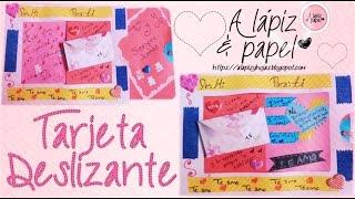 Tarjeta deslizante Especial para San Valentin   A lápiz & papel