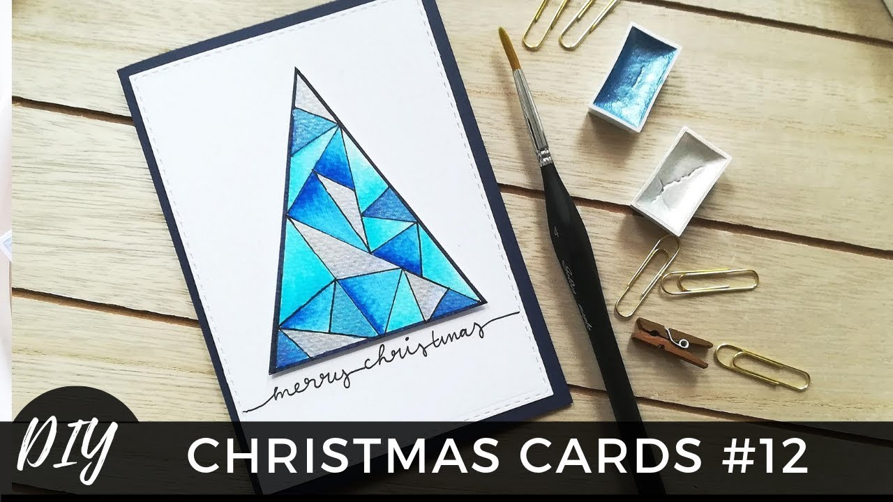weihnachtskarten selber basteln 12 weihnachtsbaum. Black Bedroom Furniture Sets. Home Design Ideas