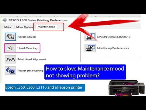 how-to-solve-epson-l360,-l380,-l3110-head-cleaning-problem-in-hindi-|-maintenance-not-showing