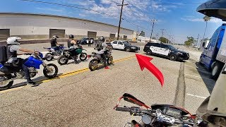 COPS TRIED TO BLOCK US IN!! *POLICE CHASE*