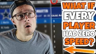 WHAT IF EVERY PLAYER IN THE NFL HAD ZERO SPEED?? (1,000+ Players!) Madden 18 Mythbusters!