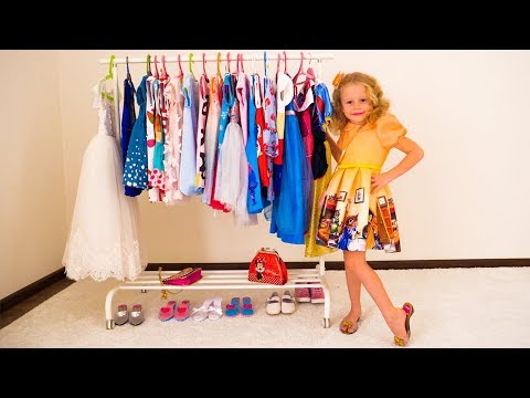 Nastya dresses up for birthday party