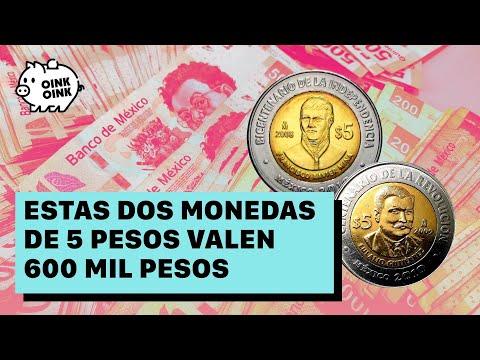 Estas dos monedas de 5 valen 600 mil pesos