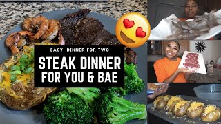 COOK WITH ME: EASY/AFFORDABLE STEAK DINNER FOR YOU & BAE😍