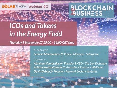 Solarplaza Webinar: Blockchain - ICOs and Tokens in the Energy Field