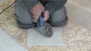How To Cut A Floor Tile Circle For Toilet Flange thumbnail