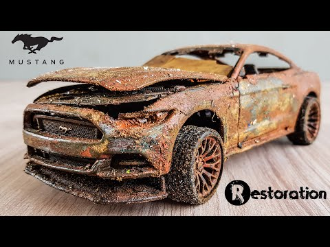 Restoration Ford mustang GT Muscle Abandoned Model Car
