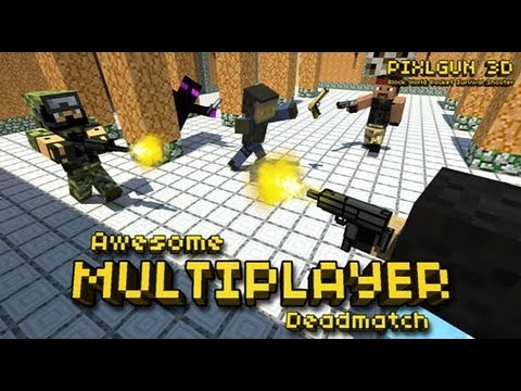 Pixel Gun 3D (Minecraft Style Edition) IOS Multiplayer Review W/ Gameplay