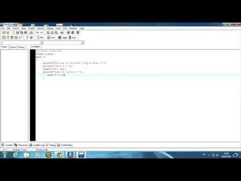 การหาพื้นที่วงกลม ด้วย Dev-C++