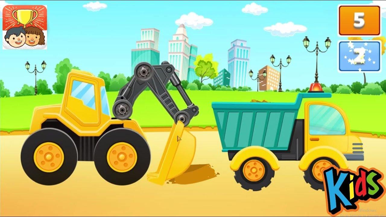 Mainan Bulldozer Excavator Dump Truck Dan Truk Molen Bego Permainan Kartun Untuk Anak Anak Part 3 Youtube