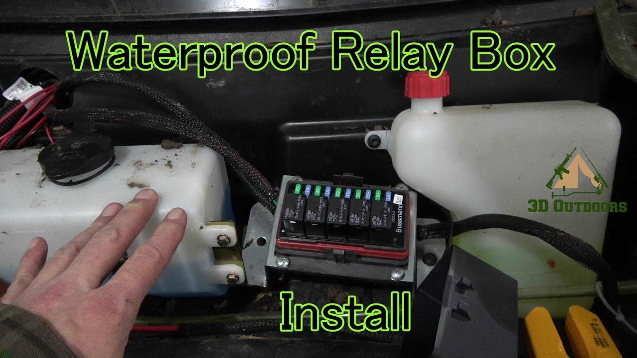 Waterproof Relay Box Install