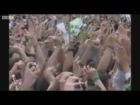 Iran election Poll loser Mousavi at Iran rally