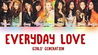 Cover images Girls' Generation (少女時代) – Everyday Love Lyrics (KAN/ROM/ENG)