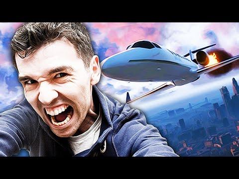 GTA 5 TROLLING - Kamikaze Strike! (Crashing Planes into People)