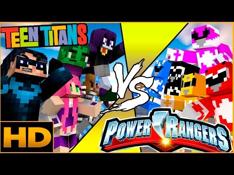 Mighty Morphin Power Rangers Movie vs Teen Titans GO! (Minecraft Superheroes Roleplay)