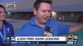 2,000 free swim lessons at YMCA