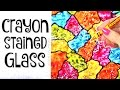 DIY CRAYON STAINED GLASS - Suncatcher Wax Paper Art - How To | SoCraftastic