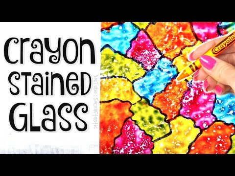 DIY CRAYON STAINED GLASS // Suncatcher Wax Paper Art How To - SoCraftastic