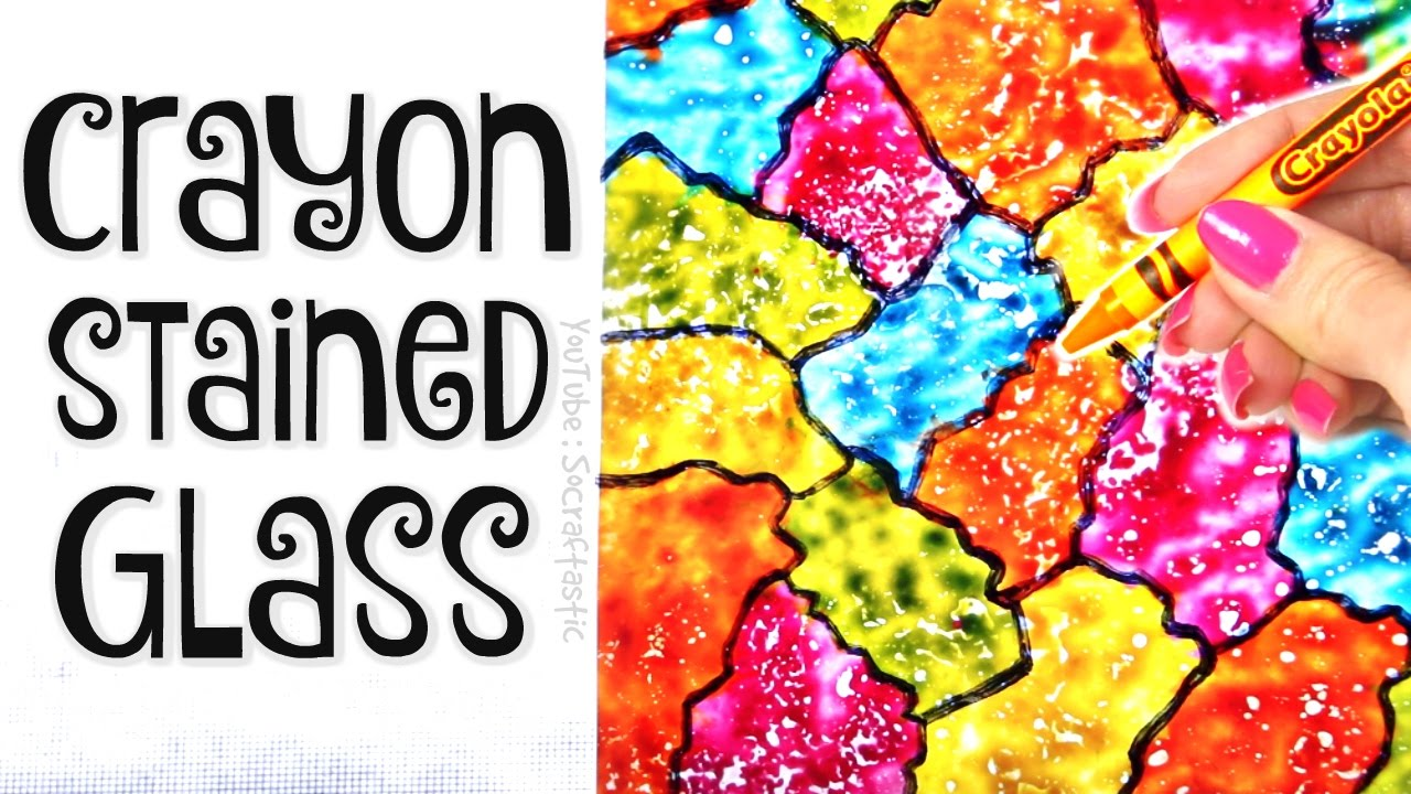 Diy Crayon Stained Glass Suncatcher Wax Paper Art How To