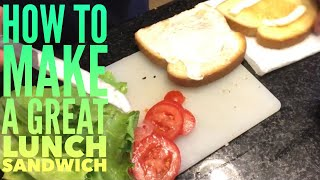 How to make a Ham Sandwich - Ham Club Sandwich