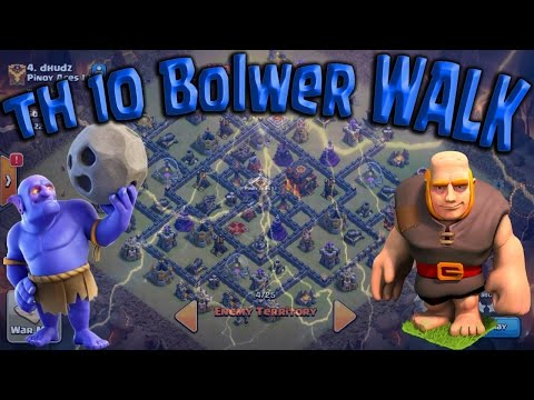 Bowler WALK TH10 3 Star War Attack Guide! HGB Post Update. Clash of Clans