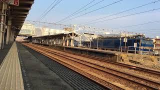 35系客車甲種輸送 あいの風とやま鉄道高岡駅通過