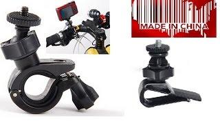 Держатель - зажим + держатель телефона на велосипед. Посылка из Китая.