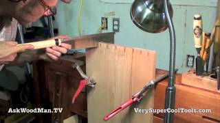 07 Four Drawer Bedside Table • Cutting Dovetail Pins