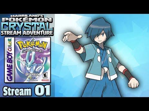 Marriland's Pokémon Crystal Adventure • Stream #01 • Streaming Live On YOUTUBE, Baby!