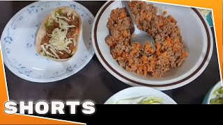 Tacos Minced Beef and Dice Carrots
