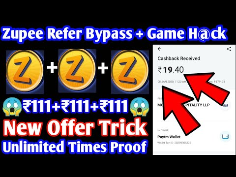 Zupee Gold app Refer bypass + New offer H@ck trick | Get free paytm cash by using this h@ck, paytm