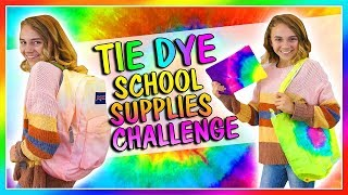 TIE DYE VS DIP DYE SCHOOL SUPPLY CHALLENGE | Kayla Davis thumbnail