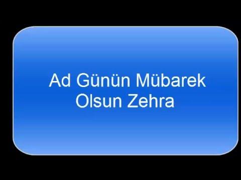 Zehra Ad Gunu Youtube