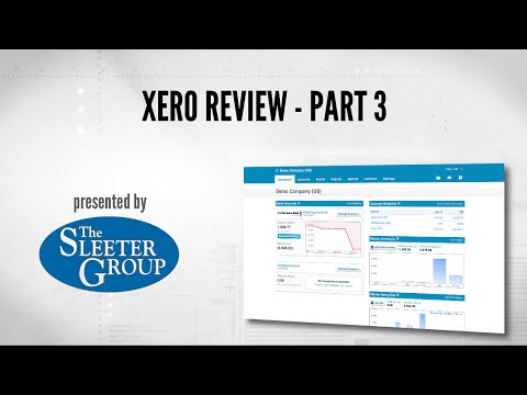 Xero Accounting Software Review / Tutorial - Part 3