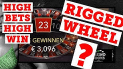 OVER € 2000 € - On a rigged Roulette Wheel? - High Roller Roulette Session #1