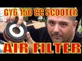 How to inspect and clean air filter on a Gy6 chinese scooter