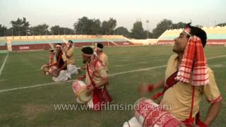 Bihu music & dance on the 6th North East Tamchon Football Trophy